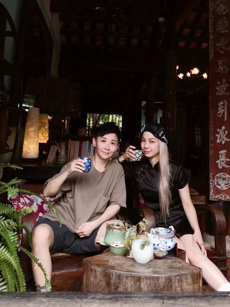會安古城很有味道的老茶館。(圖/維克提供)