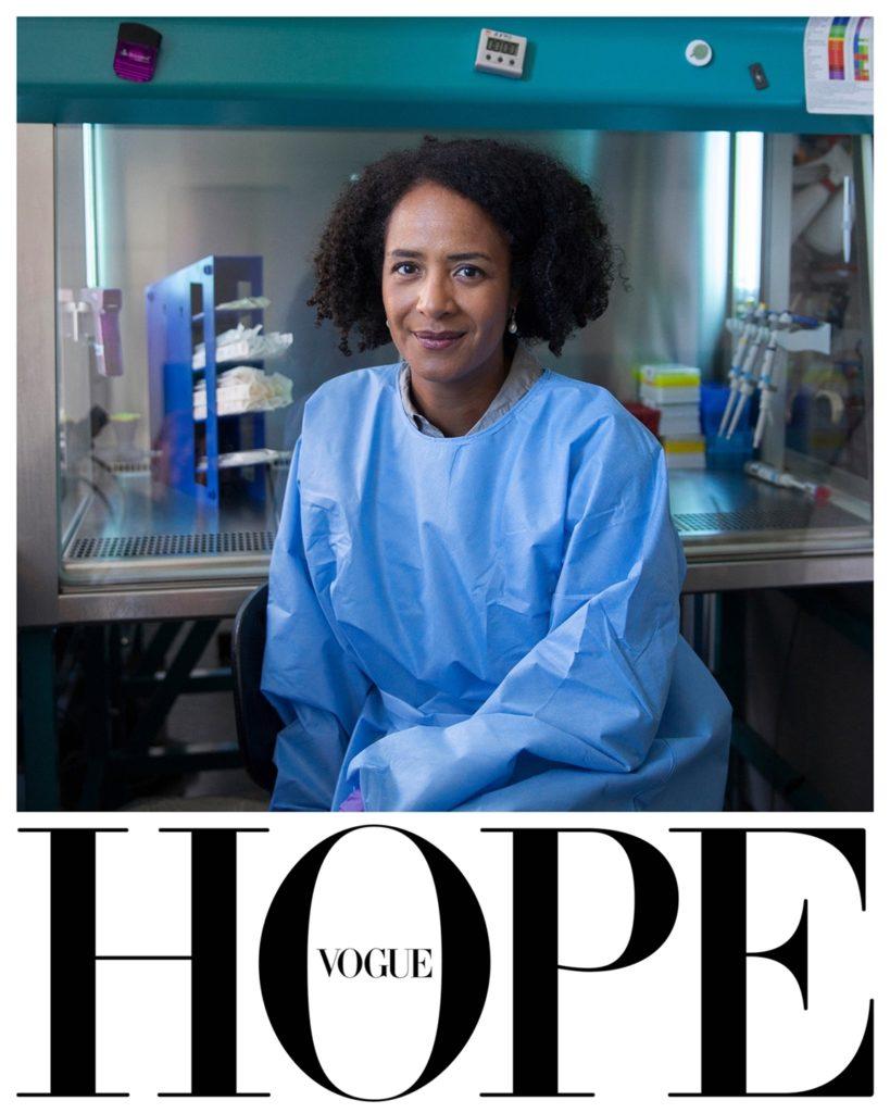 德國版為Marylyn Addo醫生拍攝肖像照,她是感染與病毒領域的全球頂尖科學家。(圖/Vogue提供)